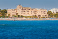 Greece, Rhodes - July 16 :  Casino Rhodes View From The Sea On July 16, 2014 In Rhodes, Greece Royalty Free Stock Image - 65460346