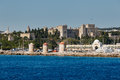 Panorama Of The Old Town From The Sea. Rhodes Island. Greece Royalty Free Stock Photography - 65460647