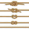 Yellow Twisted Rope Border Set, Isolated On White Stock Photography - 65466922