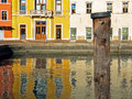 Reflecting Houses In Riva Del Garda Stock Photography - 65468392