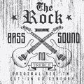 T-shirt Printing Design, Typography Graphics, The Rock Full Bass Sound Vector Illustration With  Grunge Crossed Guitars Hand Drawn Stock Photography - 65471602