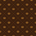 Royal Wallpaper Seamless Pattern With Crown And Decorative Elements. Luxury Background Royalty Free Stock Image - 65471696