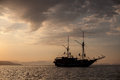 Schooner At Anchor In Tropical Pacific Royalty Free Stock Image - 65481536