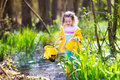 Little Girl Catching A Frog Stock Image - 65485951