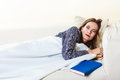 Woman Taking Power Nap After Lunch Royalty Free Stock Images - 65487509