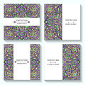 Set Templates Business Cards And Invitations With Ethnic Patterns. Corporate Style For Your Document Royalty Free Stock Photography - 65491977