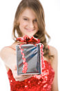 Giving Present Stock Image - 6558721