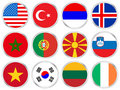 National Flags Circle Icon Set Stock Photography - 6559122