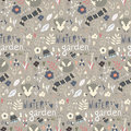 Seamless Pattern With Winter Garden Flowers, Foxes And Scarf, Ha Stock Image - 65505321