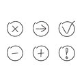 Set Icons Arrows Plus Minus Stock Photography - 65511312