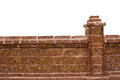 Brick Wall  White Isolated Royalty Free Stock Images - 65553699