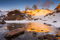Fitz Roy In The Rays Of The Sunset. Patagonia. Royalty Free Stock Image - 65556646