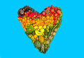 Fruits And Vegetables Heart Stock Photos - 65574263