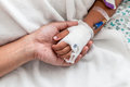 Mother Holding Child S Hand Who Have IV Solution Royalty Free Stock Photos - 65583438