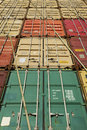 Stack Of Cargo Containers Stock Photography - 65583742