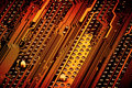 Pins On Circuit Board Close-up Royalty Free Stock Photography - 65584717