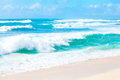 Beautiful Blue And Green Ocean Waters And Waves Of Hawaii Stock Image - 65589491