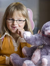 Girl And Teddy Bear Stock Images - 6567544