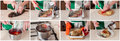 A Step By Step Collage Of Making Asian Style Baked Carp Stock Image - 65608211