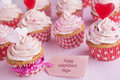 Pink Valentine Cupcakes Stock Photography - 65609202