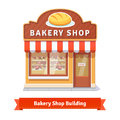 Bakery Shop Building Facade With Signboard Royalty Free Stock Images - 65609639