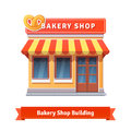 Bakery Shop Building Facade With Signboard Royalty Free Stock Photo - 65609685