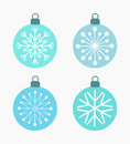 Winter Snowflake Baubles Stock Photo - 65618560