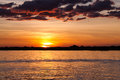 Sunset Over Chobe River, Botswana Royalty Free Stock Photo - 65629755