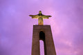 Statue Of Christ The King In Lisbon Stock Photos - 65629953