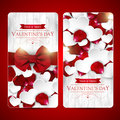 Valentines Day Cards With Bow Royalty Free Stock Images - 65631009