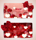 Valentines Day Cards With Bow Stock Photos - 65631023