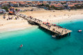 Aerial View Of Santa Maria Beach In Sal Island Cape Verde - Cabo Stock Images - 65631414