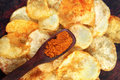 Spicy Potato Chips Royalty Free Stock Photo - 65652895