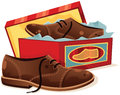 Male Shoes And Shoebox Stock Photo - 65655030