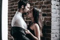 Stealing A Kiss. Royalty Free Stock Image - 65662026