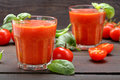 Fresh Healthy Tomato Smoothie Juice On Wooden Background Royalty Free Stock Photos - 65686938
