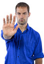 Man With Stop Gesture Stock Images - 65694484