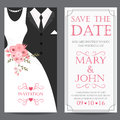 Bride And Groom,wedding Invitation Card Royalty Free Stock Images - 65701969