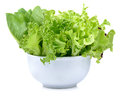 Fresh  Lettuce Leaves Isolated On White Royalty Free Stock Photography - 65708967