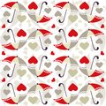 Valentine Seamless Pattern With Umbrellas - Vector Royalty Free Stock Photos - 65730558