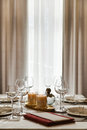 The Laid Table At Restaurant Royalty Free Stock Photo - 65736145