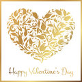 Greeting Gold Heart Elements For Design. Vector Illustration. Royalty Free Stock Photography - 65751577