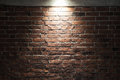 Grungy Dark Red Brick Wall With Spotlight, Texture Royalty Free Stock Photography - 65770247