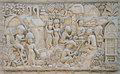 Low Relief Representing Life Of Ancient Thai Village Royalty Free Stock Photo - 65777135
