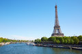 Eiffel Tower And Seine River In A Clear Sunny Day In Paris Stock Images - 65782624