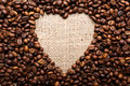 Coffee Beans In Shape Of Heart Stock Images - 65790704