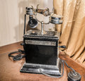 Vintage Telephone Table, 1920 Stock Photo - 65801660