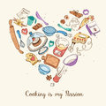 Cooking Is My Passion Poster Stock Image - 65806261