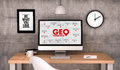 Workspace Computer Geo Targeting Strategy Stock Photos - 65807813