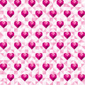 Abstract Geometric Pink Hearts Pattern Royalty Free Stock Photo - 65810955
